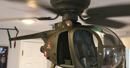 OH-6 Helicopter Ceiling Fan (DIY) - Inspire the Uninspired | JoeBurlas.com
