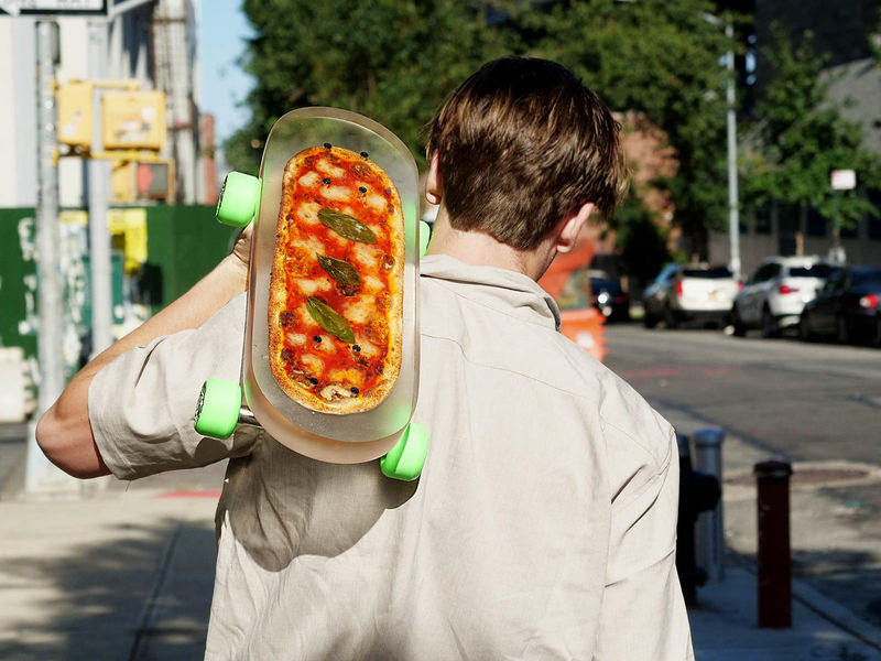 pizza infused skateboard