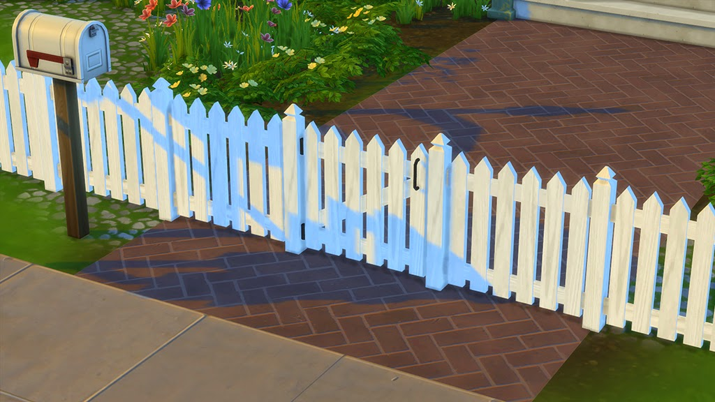 My Sims 4 Blog Picket Fence And Gate By Dasmatze2