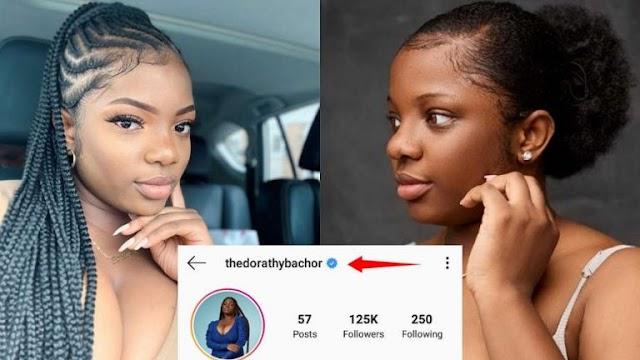 First Big Brother Naija Lockdown 2020 Female Housemate to Get Instagram Verified Blue Tick - Dorathy Bachor