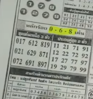 Thai Lottery 123 Single Number Guidelines For 01 January 2018 | 3up Mix