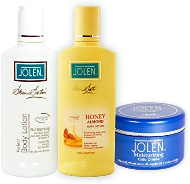 Jolen Skin Nourishing Winter Combo - (Honey & Almond Lotion + Body Lotion + Cold Crèam)