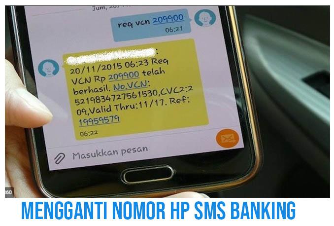 Cara Mengganti No HP SMS Banking BRI Lewat HP
