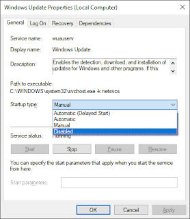 Catatan Ikrom Cara Menonaktifkan Windows Update pada Windows 10 Step-3