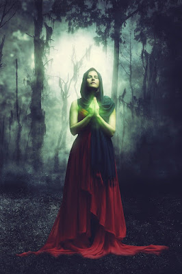 witch woman in forest