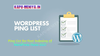 Ping List for Fast Indexing of WordPress Posts 2021