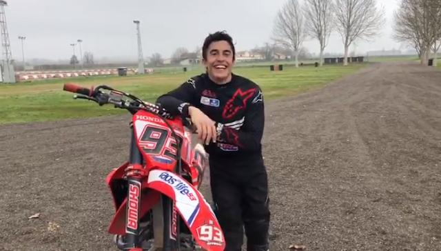 Ulang Tahun ke-27 Marc Marquez Merayakan dengan Mengendarai Motocross