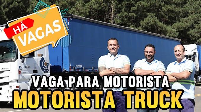 Transportadora Log20 abre vagas para motorista Truck