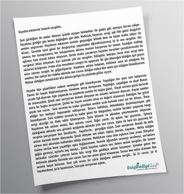 güzel aşk mektubu örnekleri