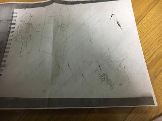 切り絵の下絵をコピーしたもの 影織