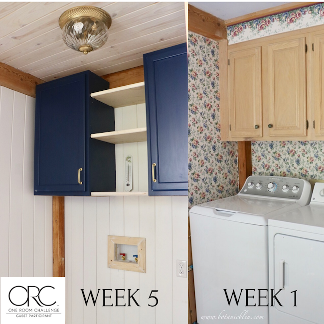 French Country laundry ORC French Style progress compares week 5 with week 1