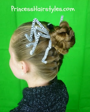 Spider Hairstyle Tutorial, Halloween Hairstyle