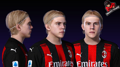 PES 2021 Faces Jens Petter Hauge by Prince Hamiz