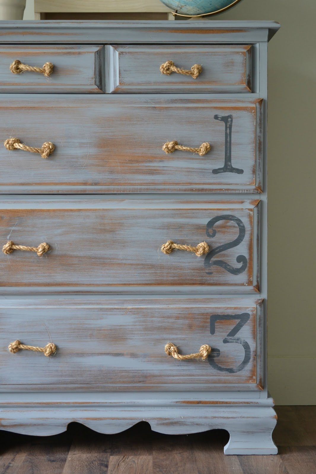 Funky Junk Distressed Number Chest Of Drawers