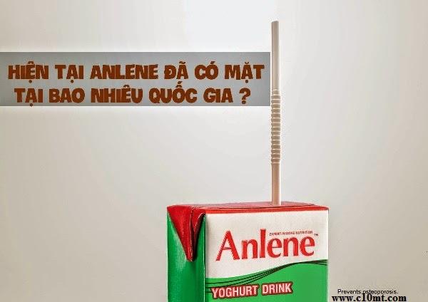 Hiện tại Anlene đã có mặt tại bao nhiêu quốc gia ? Anlenevn