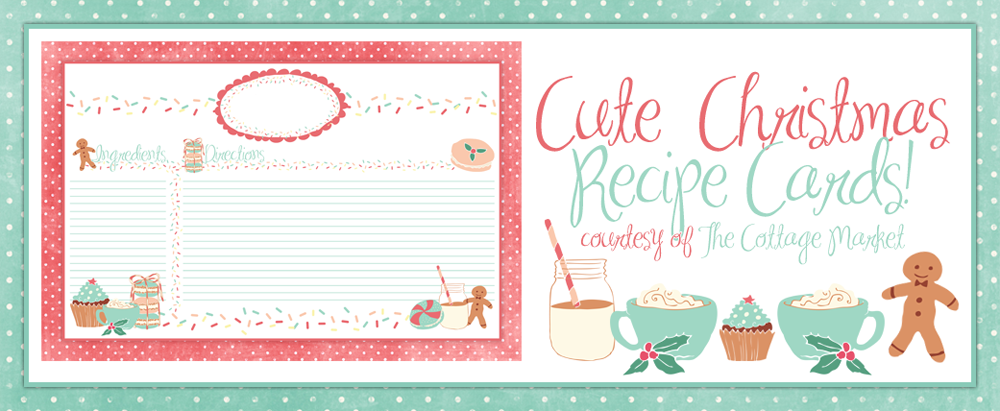 image regarding Printable Christmas Recipe Cards identified as Lovely Getaway Recipe Card Printable FOR Oneself additionally some cute