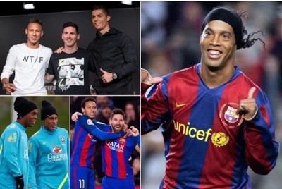 Neymar is already on the same level with Messi & Ronaldo- Ronaldinho claims