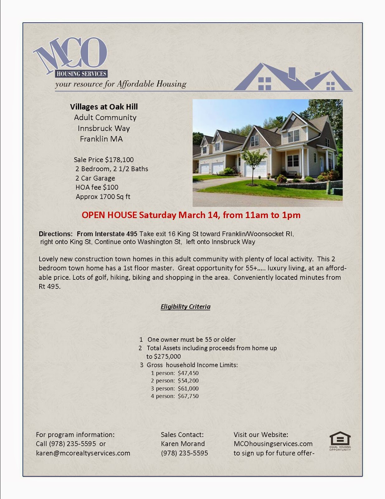 Village at Oak Hill - Open House - March 14