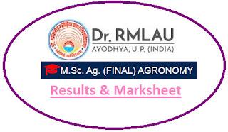 Faizabad University M.Sc Agri Final Agronomy Result 2021