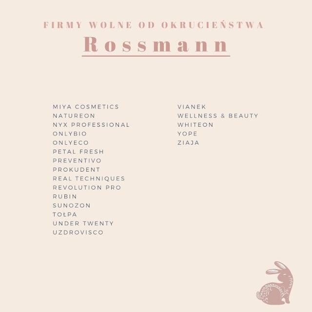 lista firm cruelty free rossmann