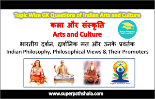 भारतीय दर्शन, दार्शनिक मत और उनके प्रवर्तक GK Questions Set 2