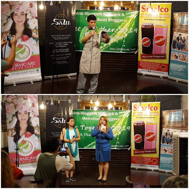 January 5, 2019, I attended the get -together of members of Filipino Bloggers Network and Metrobuzz Bloggers held at Tambayan by Salu in Quezon City