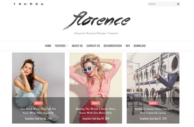 Florence Blogger template responsive