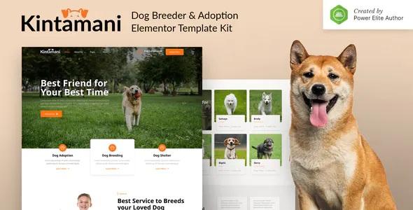 Best Dog Breeder & Adoption Elementor Template Kit