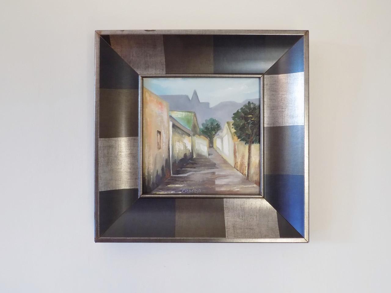 oryginalny obraz na ścianie apartamentu
