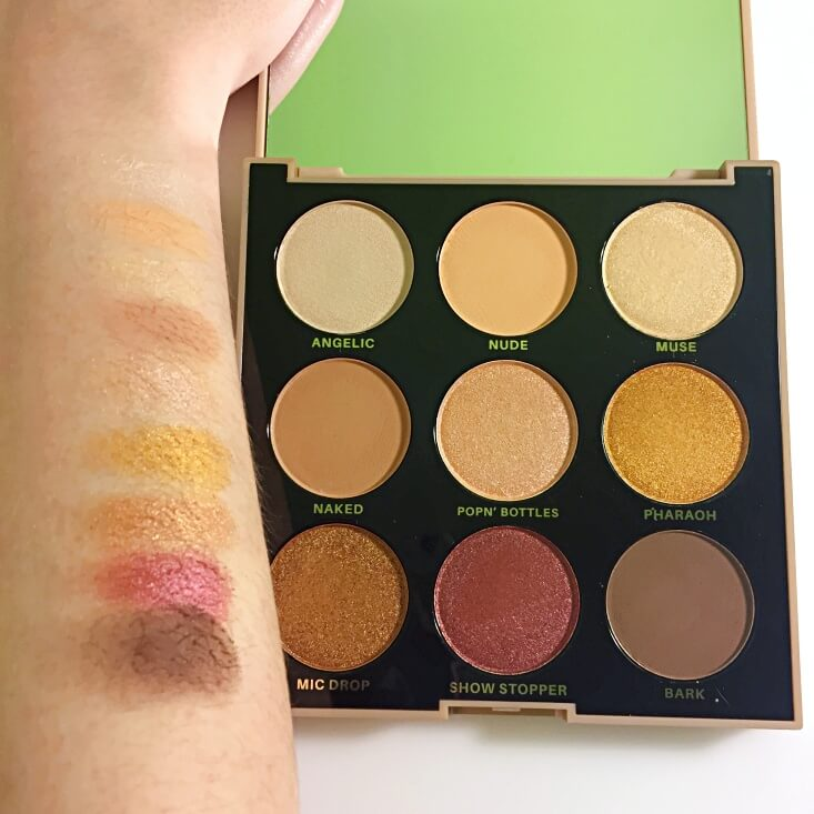 Profusion Mixed Metals eyeshadow palette swatches