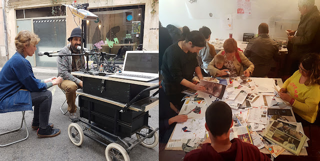 publication collaborative sur une journée à Etant Donné Nîmes