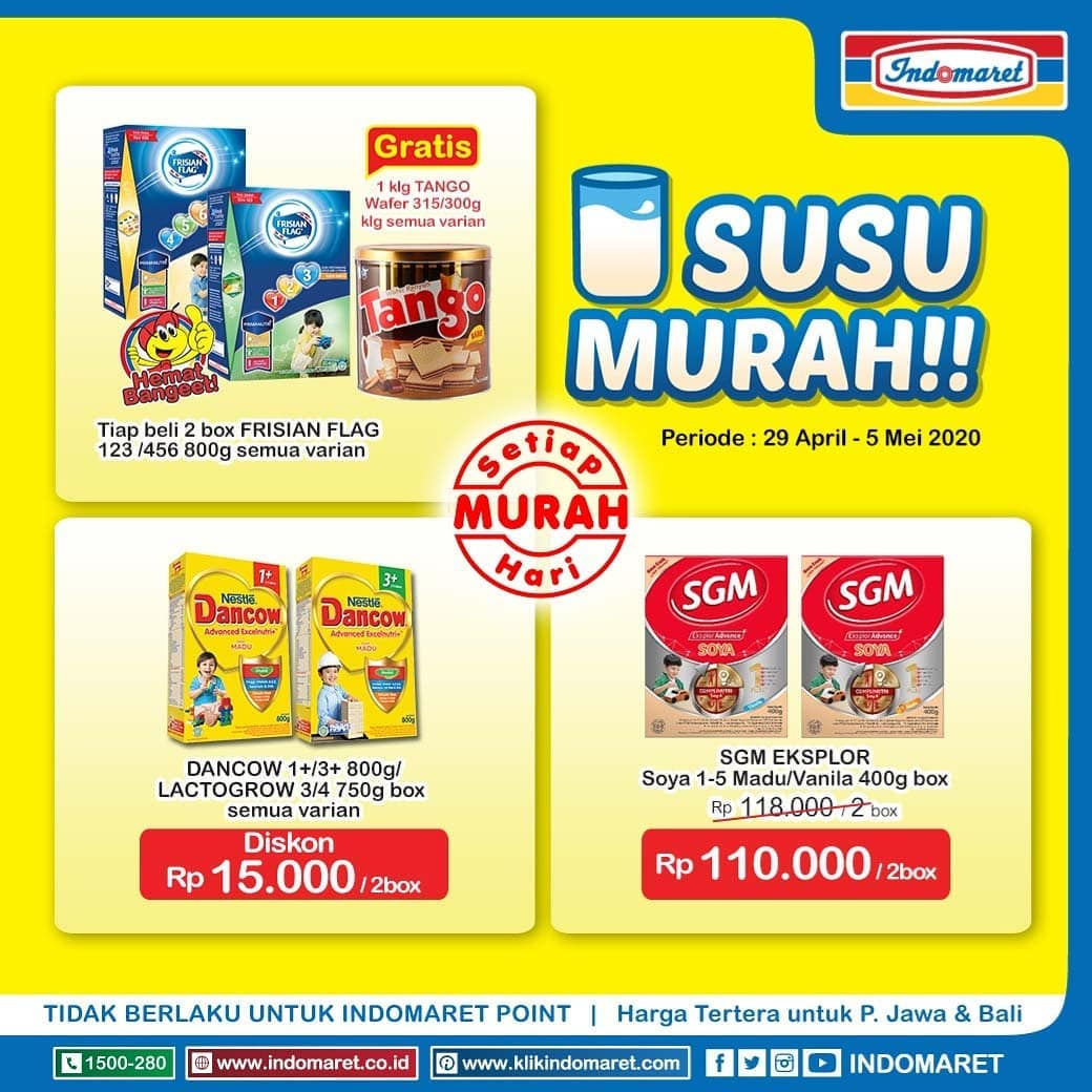 Promo Indomaret Susu Murah + Super Hemat Berlaku 29 April - 5 Mei 2020