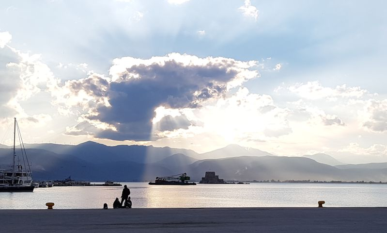 Hafen Nafplio Peloponnes April 2019
