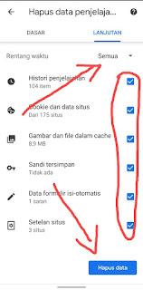 Cara Menghapus History Browser di Hp Android