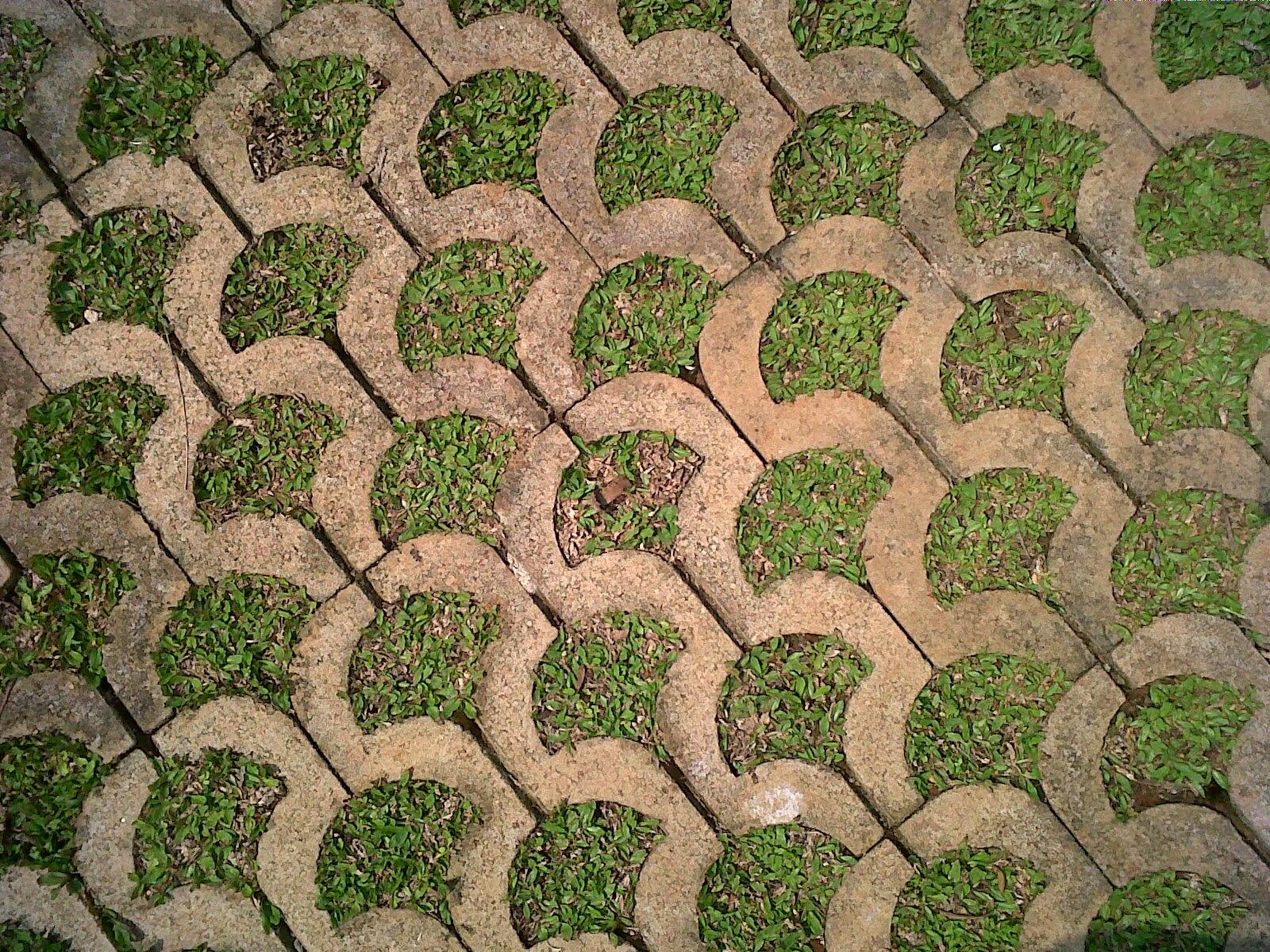 Lantai Grass Block Menyerap Air Hujan