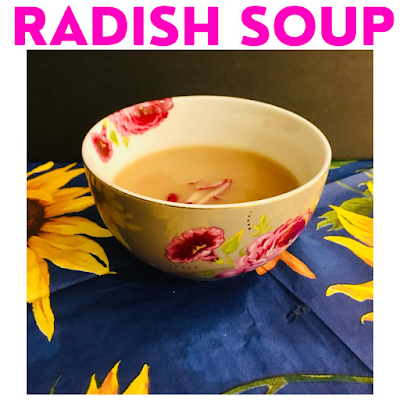 radish soup on a beautiful background