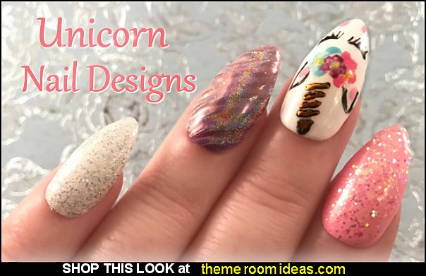 unicorn horn glitter gel false nails  Unicorn nails Unicorn nails