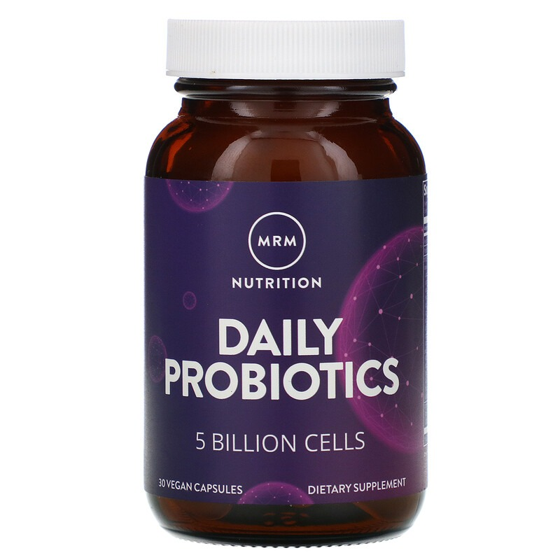 MRM, Nutrition, Daily Probiotics, 5 Billion Cells, 30 Vegan Capsules