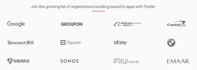 الشركات التي تستخدم Flutter