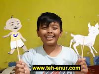 Cara Membuat Boneka Wayang Dari Kardus / Karton Bekas (kerajinan tangan siswa kelas 5 SD)