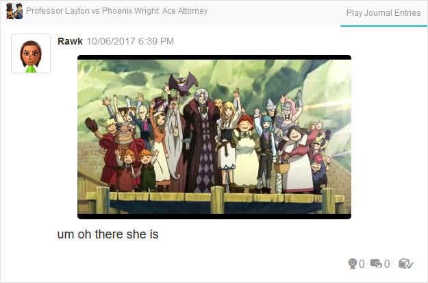 Professor Layton vs. Phoenix Wright Ace Attorney ending cutscene epilogue waving bye