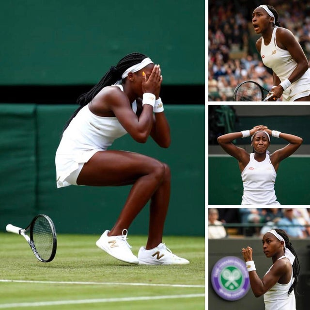 """Congratulations to 15 yr old Cori """"Coco"""" Gauff, who after becoming the youngest player to ever qualify for Wimbledon, defeated her idol Venus Williams today to become the youngest player since 1991 to win in the first round of women's singles. What an incredible story."""