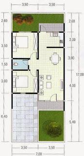 denah rumah type 60 1 lantai dan 2 lantai kumpulan gambar