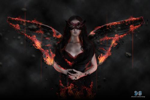 efek fantasy, manipulasi photoshop, angel photoshop