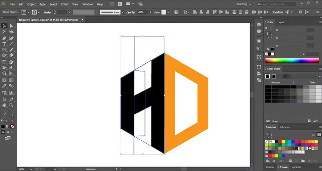 Negative Space Logo in Adobe Illustrator