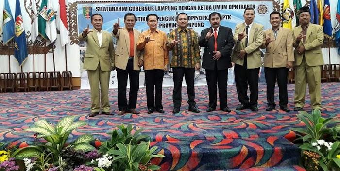Gubernur Kukuhkan Kepengurusan IKAPTK Lampung