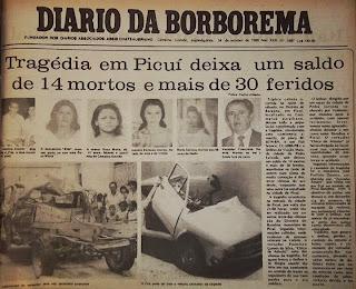 28 anos depois: Tríplice Colisão em Picuí deixa saldo de 14 mortos e 30 Feridos
