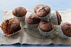 كعكة المافين بالشيكولاتة Chocolate muffins
