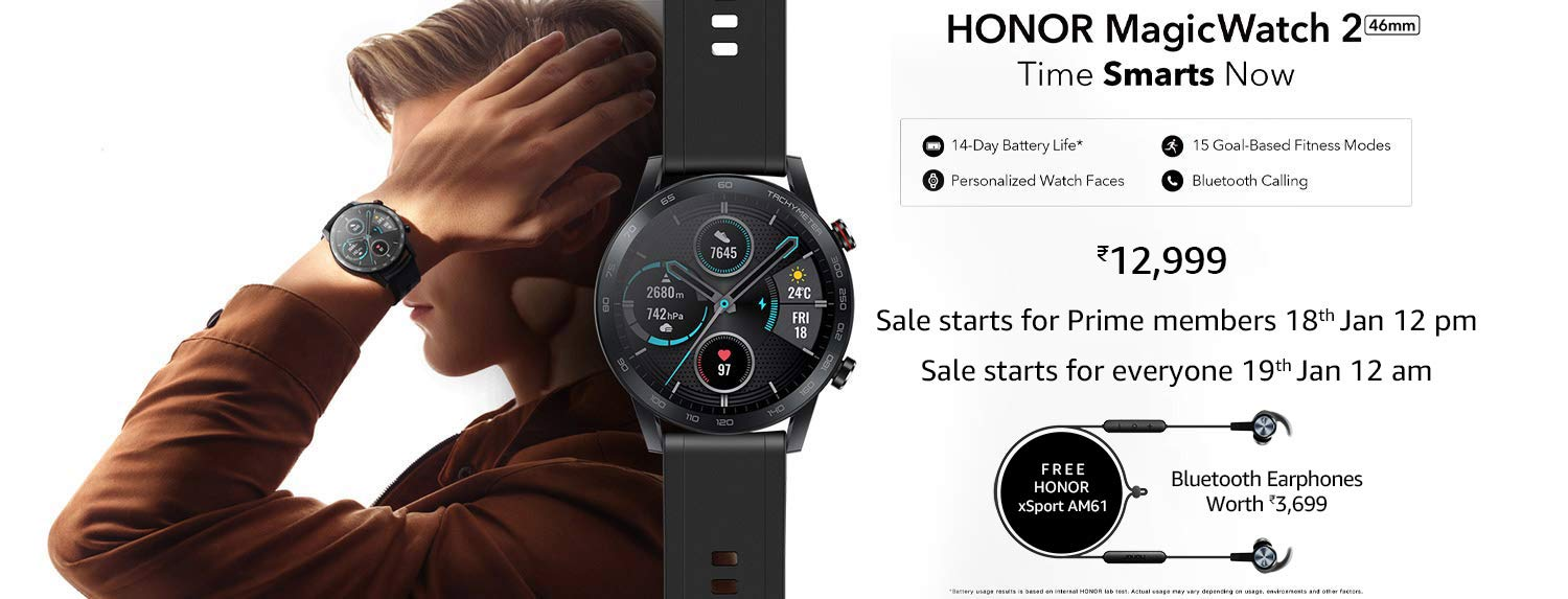 Honor Magic Watch 2 46mm Launch Offer On Amazon India