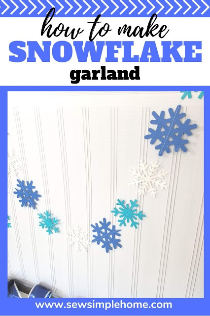 Learn how to make snowflake garland from paper with a Cricut cutting machine.